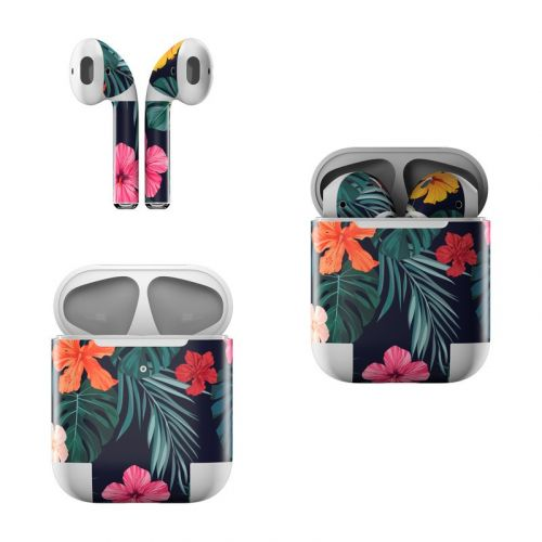 Tropical Hibiscus Apple AirPods Skin