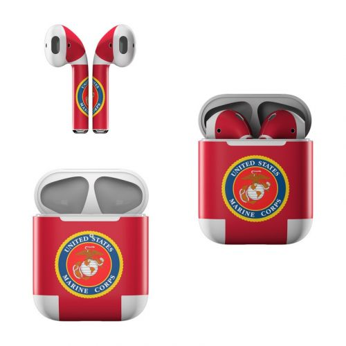 USMC Red Apple AirPods Skin