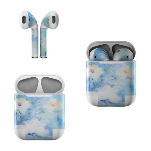White & Blue Apple AirPods Skin