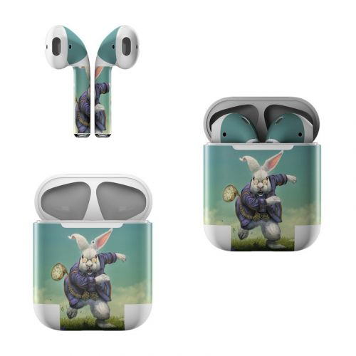 White Rabbit Apple AirPods Skin