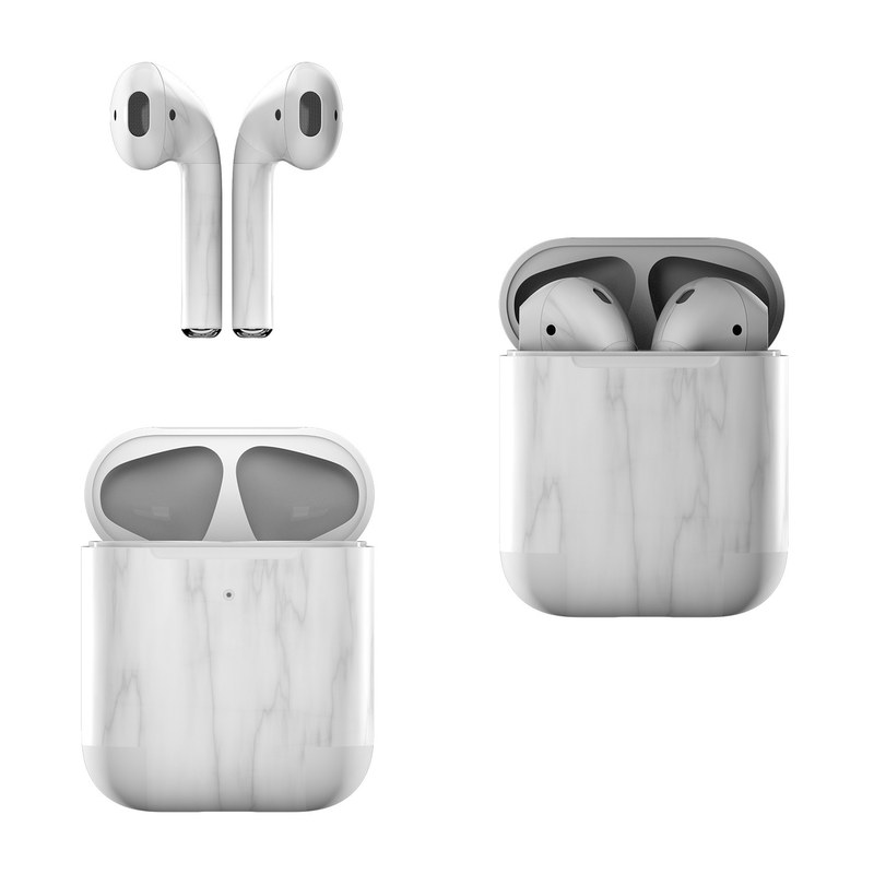 Bianco Marble Apple AirPods Skin