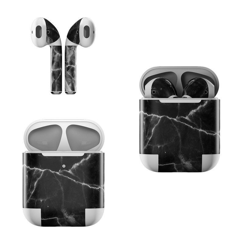 Black Marble Apple AirPods Skin