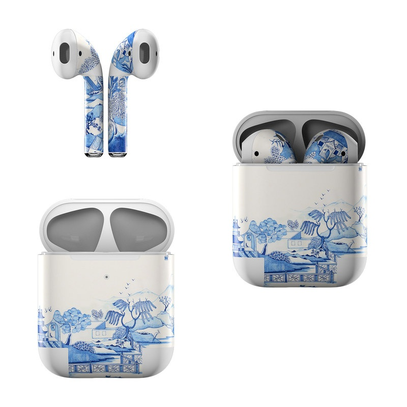 Blue Willow Apple AirPods Skin