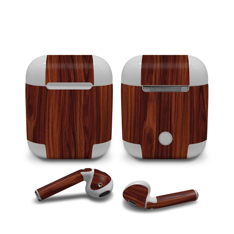 Dark Rosewood Apple AirPods Skin