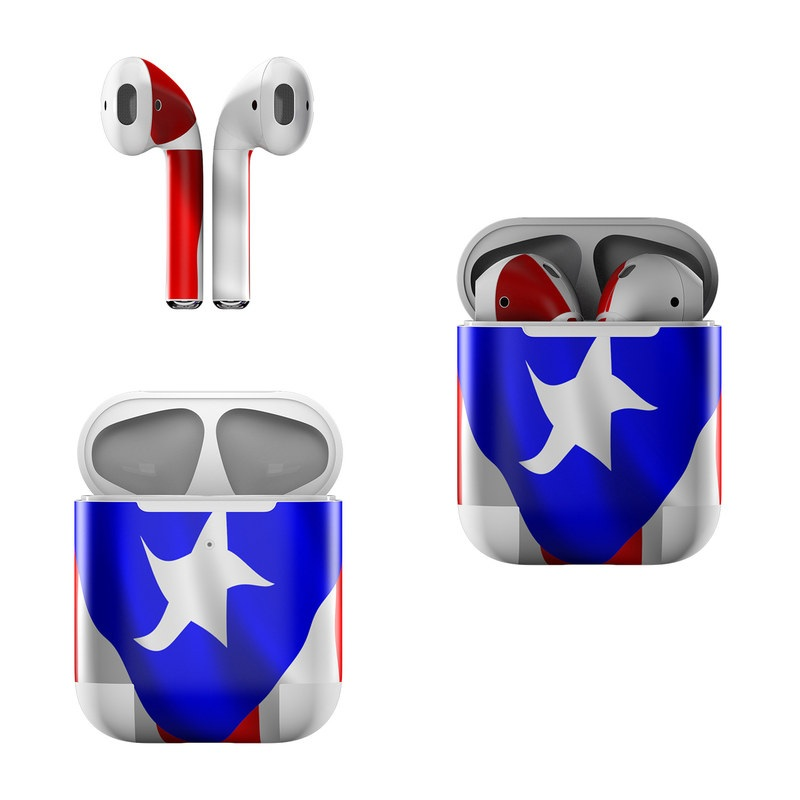 Apple AirPods Skin design of Flag, Flag of the united states, Flag Day (USA), Veterans day, Independence day with red, blue, white colors