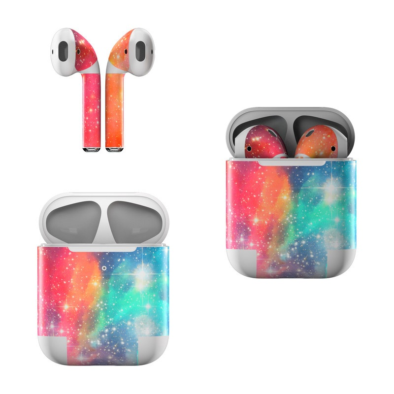 Apple AirPods Skin design of Nebula, Sky, Astronomical object, Outer space, Atmosphere, Universe, Space, Galaxy, Celestial event, Star with white, black, red, orange, yellow, blue colors