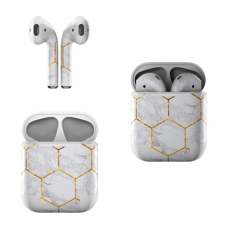 Honey Marble Apple AirPods Skin