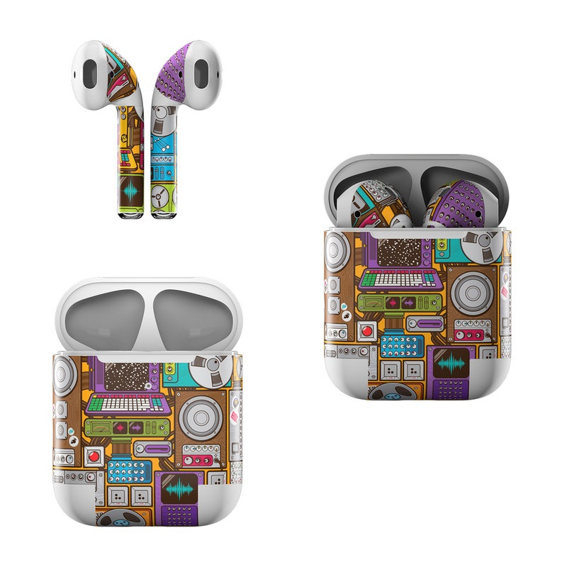 Apple AirPods Skin design of Games, Pc game, Design, Pattern, Screenshot, Art with gray, black, red, green, blue, purple colors