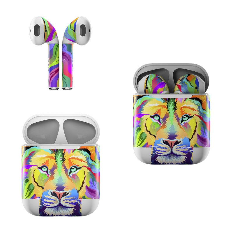 King of Technicolor Apple AirPods Skin