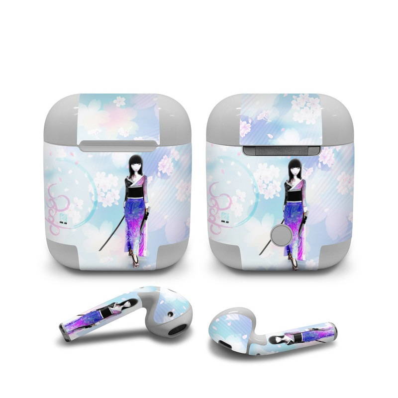 Apple AirPods Skin design of Clothing, Fashion illustration, Fashion model, Pink, Fashion, Purple, Fashion design, Dress, Barbie, Illustration with white, pink, purple, black, blue colors