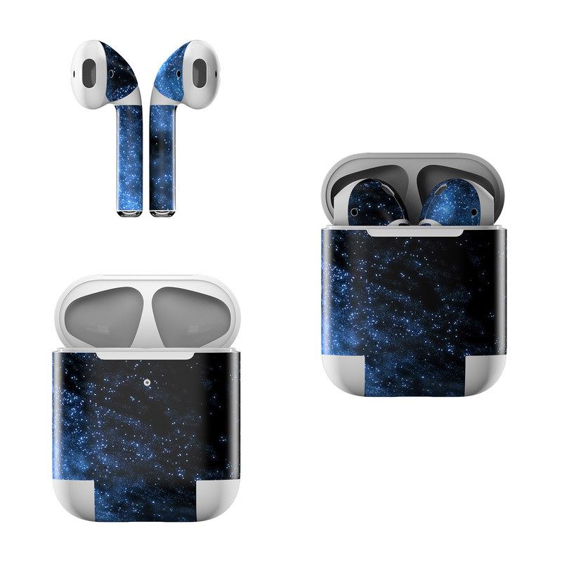 Apple AirPods Skin design of Sky, Atmosphere, Black, Blue, Outer space, Atmospheric phenomenon, Astronomical object, Darkness, Universe, Space with black, blue colors