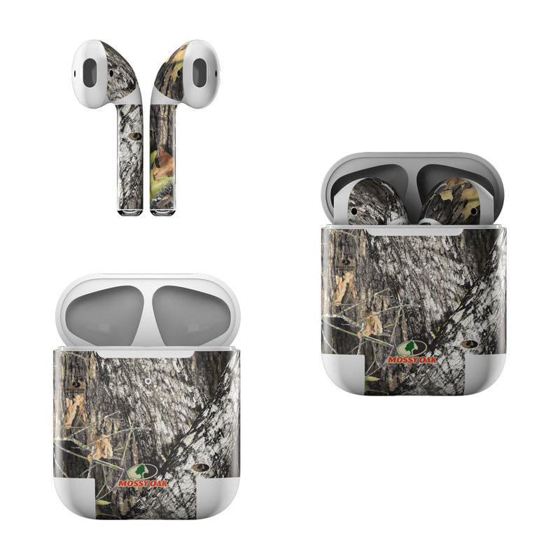 Apple AirPods Skin design of Leaf, Tree, Plant, Adaptation, Camouflage, Branch, Wildlife, Trunk, Root with black, gray, green, red colors
