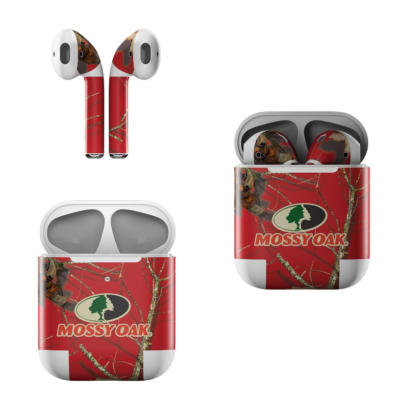 Apple AirPods Skin design of Ginseng, Organism, Plant, Botany, Branch, Tree, Adaptation, Wildlife, Twig, Plant stem with red, black, green, gray colors