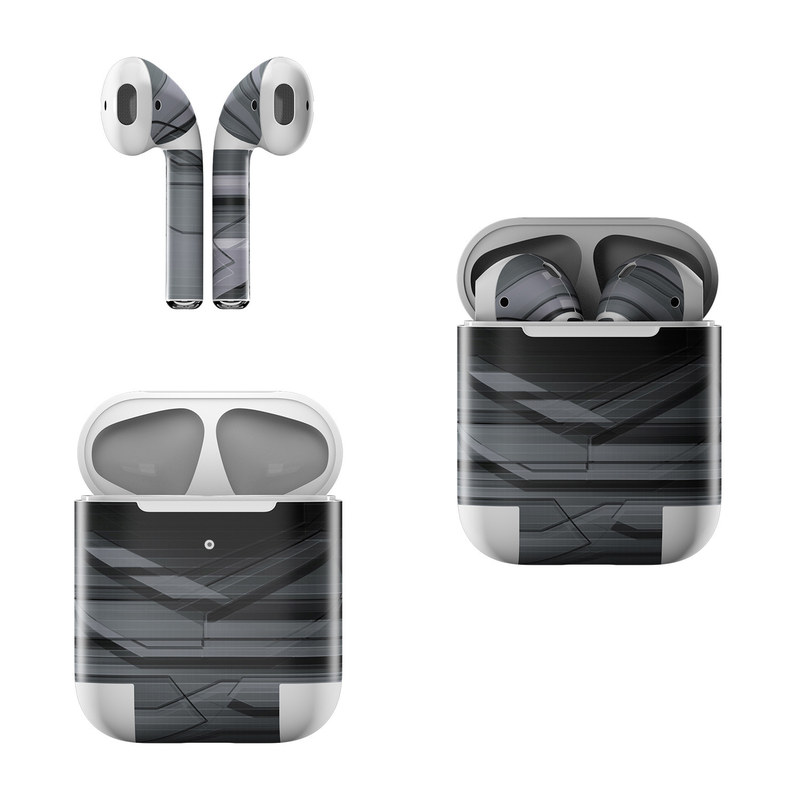 Apple AirPods Skin design of Black, Monochrome, Line, Architecture, Black-and-white, Design, Pattern, Sky, Automotive design, Ceiling with black, gray colors