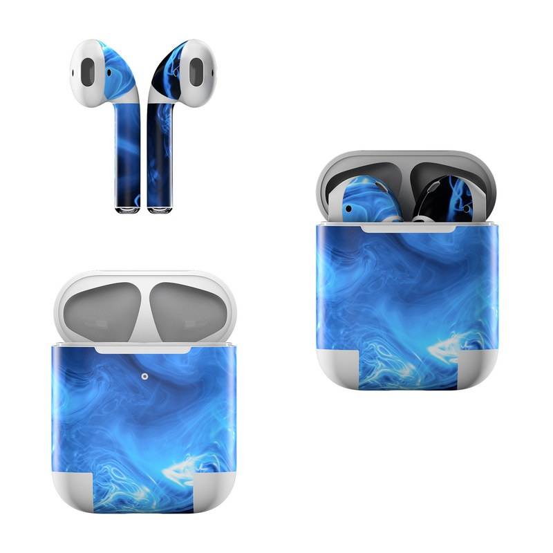 Blue Quantum Waves Apple AirPods Skin