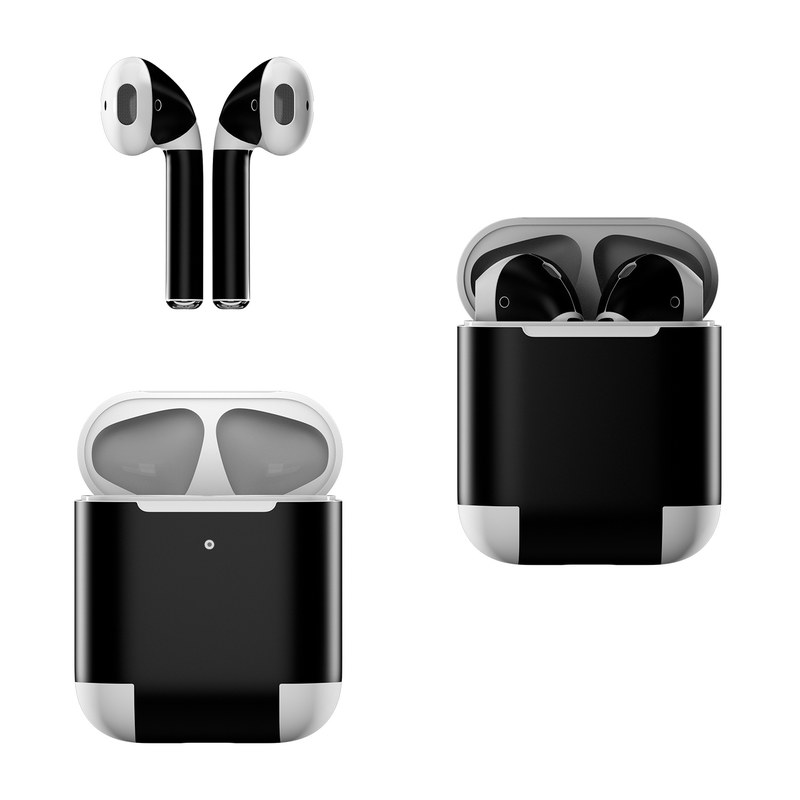 Solid State Black Apple AirPods Skin