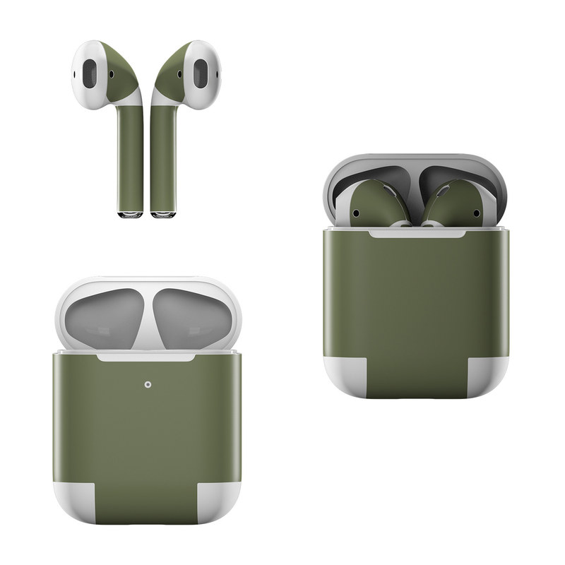 Solid State Olive Drab Apple AirPods Skin