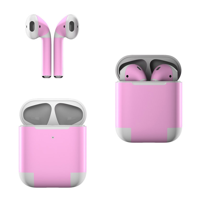 Solid State Pink Apple AirPods Skin