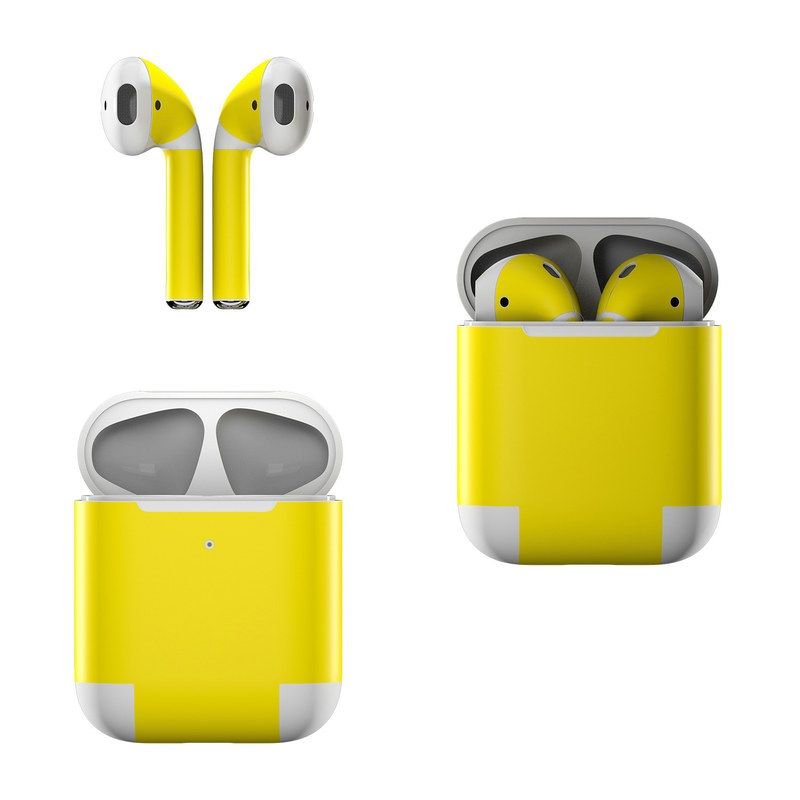 Solid State Yellow Apple AirPods Skin