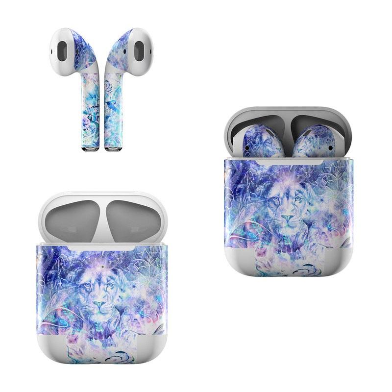 Apple AirPods Skin design of Psychedelic art, Water, Fractal art, Art, Pattern, Graphic design, Design, Illustration, Electric blue, Visual arts with blue, purple, green, red, gray, white colors