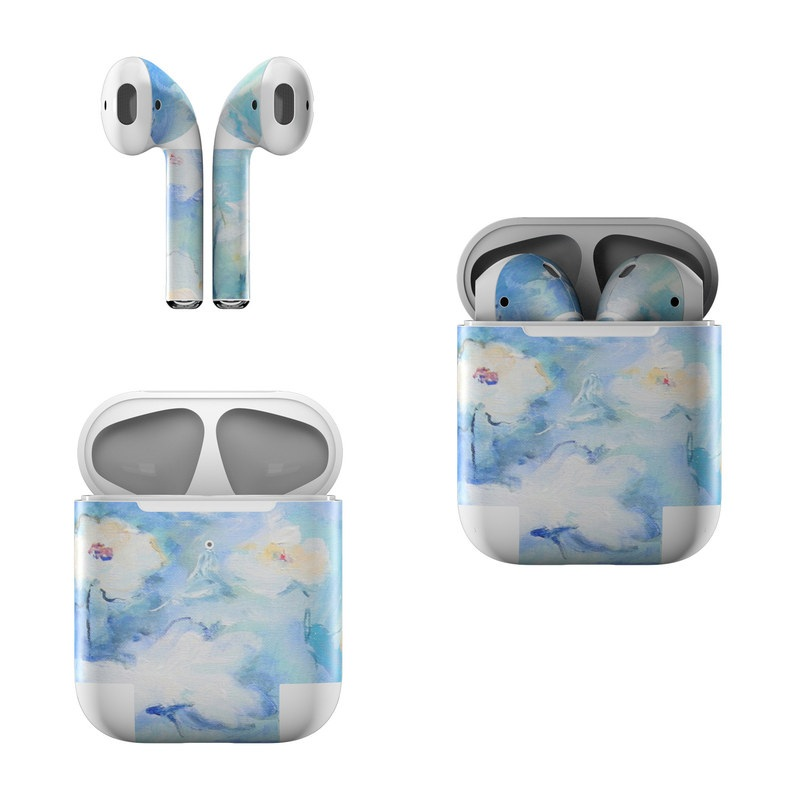 White & Blue Apple AirPods Skin