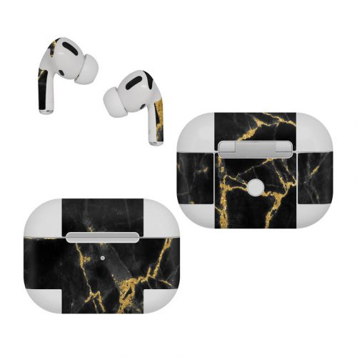 Black Gold Marble Apple AirPods Pro Skin