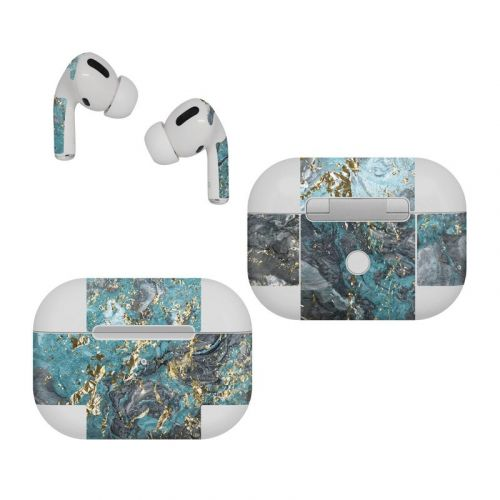 Gilded Glacier Marble Apple AirPods Pro Skin