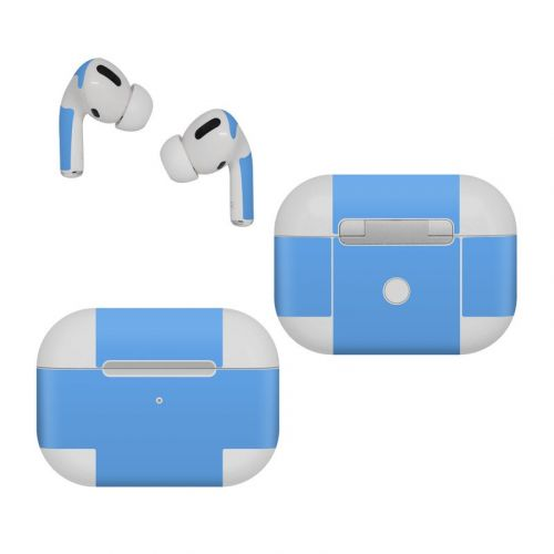 Solid State Blue Apple AirPods Pro Skin