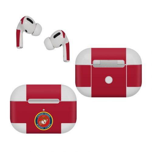 USMC Red Apple AirPods Pro Skin