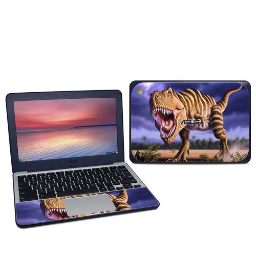 Brown Rex Asus Chromebook C202S Skin