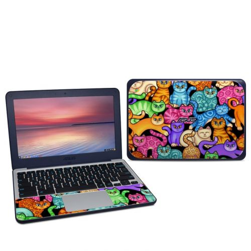 Colorful Kittens Asus Chromebook C202S Skin