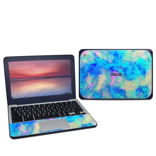 Electrify Ice Blue Asus Chromebook C202S Skin
