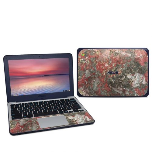 Gilded Magma Marble Asus Chromebook C202S Skin