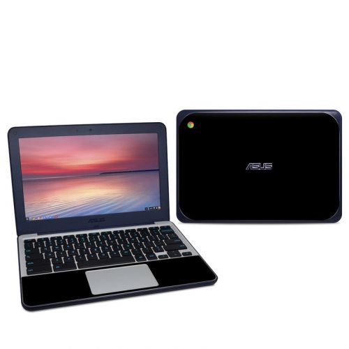 Solid State Black Asus Chromebook C202S Skin