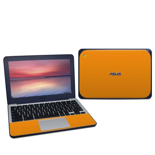Solid State Orange Asus Chromebook C202S Skin