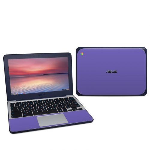 Solid State Purple Asus Chromebook C202S Skin