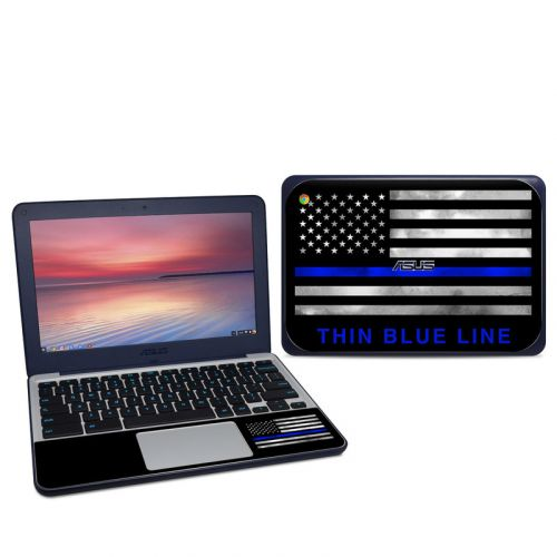 Thin Blue Line Asus Chromebook C202S Skin