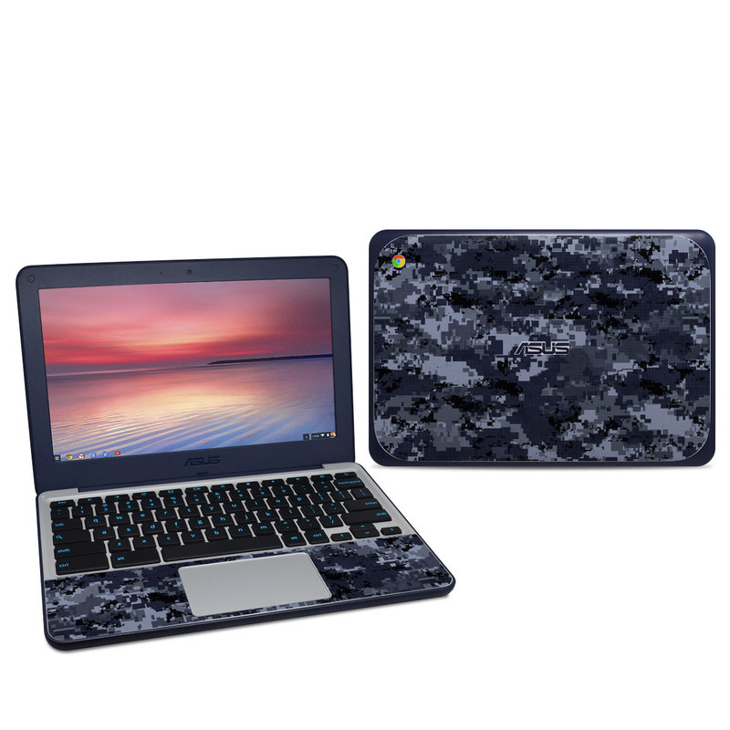 Digital Navy Camo Asus Chromebook C202S Skin
