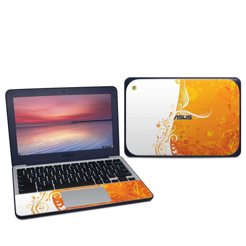 Orange Crush Asus Chromebook C202S Skin