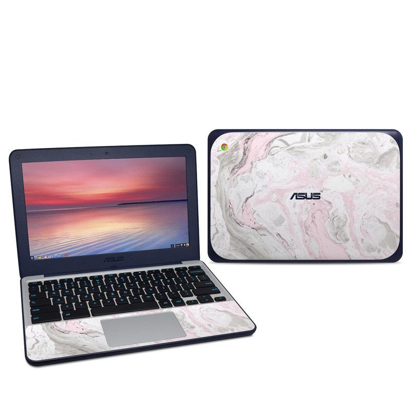 Rosa Marble Asus Chromebook C202S Skin