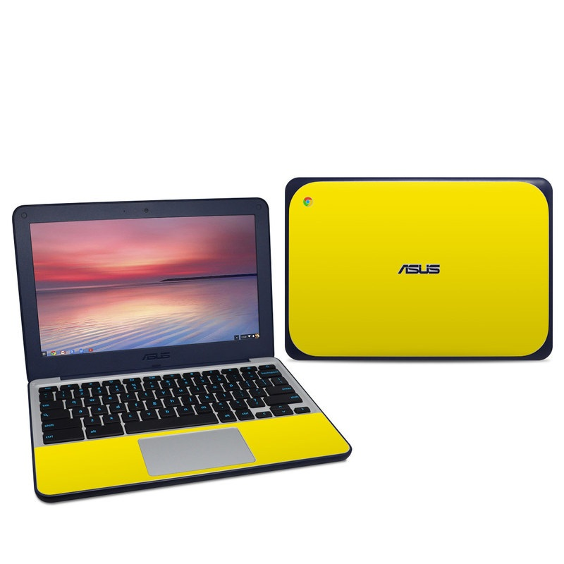 Solid State Yellow Asus Chromebook C202S Skin