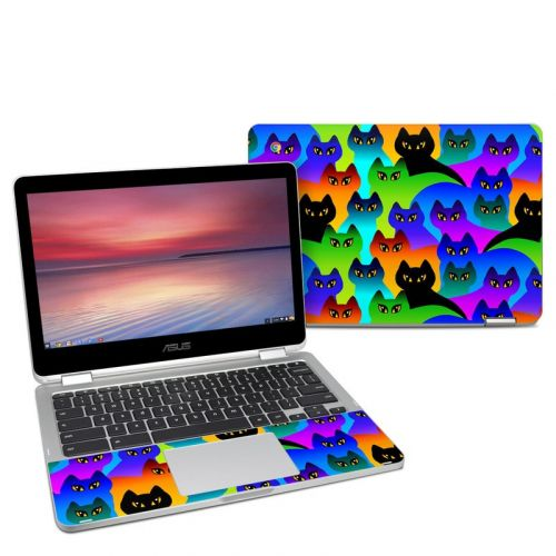 Rainbow Cats Asus Chromebook Flip C302 Skin