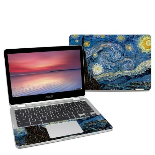 Starry Night Asus Chromebook Flip C302 Skin
