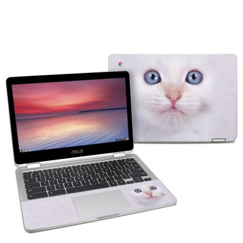 White Kitty Asus Chromebook Flip C302 Skin