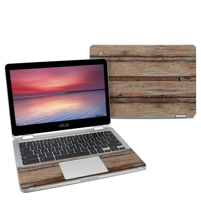 Asus Chromebook Flip C302 Skin design of Wood, Wood stain, Plank, Lumber, Hardwood, Plywood, Pattern, Siding with brown colors