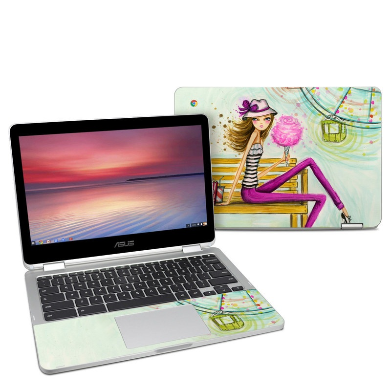 Carnival Cotton Candy Asus Chromebook Flip C302 Skin