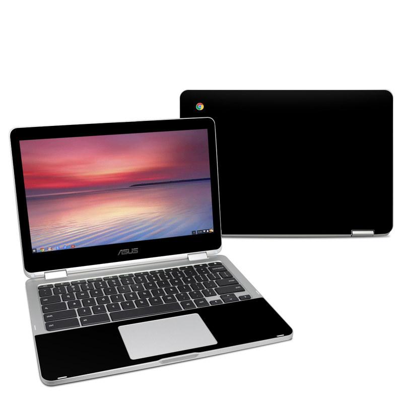Solid State Black Asus Chromebook Flip C302 Skin