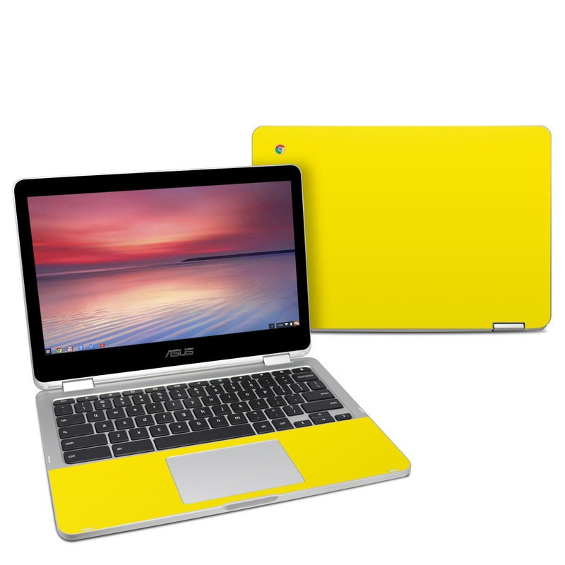 Solid State Yellow Asus Chromebook Flip C302 Skin