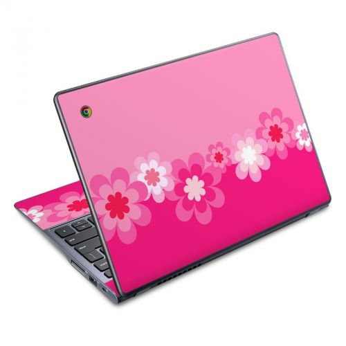 Retro Pink Flowers Acer C720 Chromebook Skin