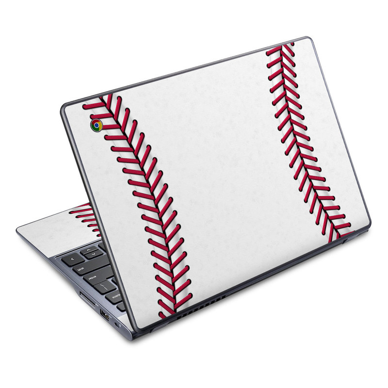 Acer C720 Chromebook Skin design of Red, Line, Pink, Parallel, Paper with white, red colors
